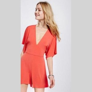 🧡Neon Coral Express Romper🧡